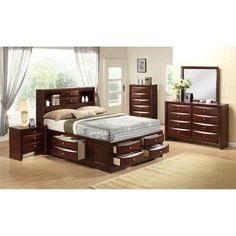 Global Furniture - Linda 4 Piece King Bedroom Set in Merlot - 5 Piece Bedroom Set, King Bedroom Sets, Bedroom Furniture Sets, Queen Bedroom, Master Bedroom, Bedroom Suites, Modern Bedroom, Bedroom Ideas, Bedrooms