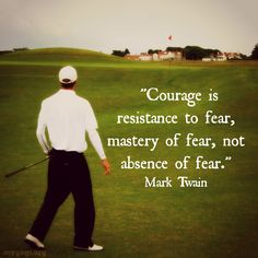 """""""Do one thing every day that scares you."""" #Golf #Quotes #Motivational…"""