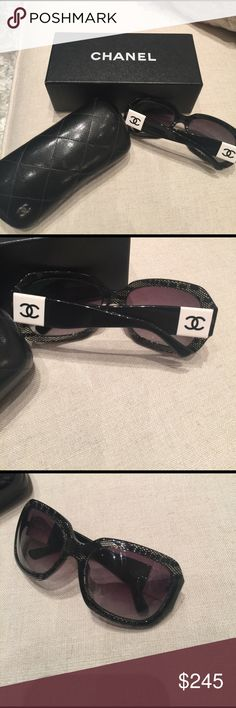 AUTHENTIC LIMITED EDITION CHANEL SUNGLASSES 😍💎 This is a beautiful pair of authentic Chanel sunglasses only worn a handful of times in like new condition with original case and box!!! Selling for a great deal! CHANEL Accessories Sunglasses