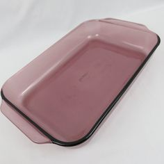 """Cranberry Pyrex Rectangular Cake or Lasagna Dish - 233R Large 3Qt  13""""x 9""""x 2"""" Baking Pan with Tab Handles by CheekyBirdy on Etsy"""