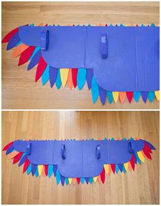 hello, Wonderful - DIY RAINBOW BIRD WING COSTUME The Effective Pictures We Offer You About two Birds A quality picture can tell you many things. You can find the most beautiful pictures that can be pr Bird Costume Kids, Bird Wings Costume, Parrot Costume, Costume Dress, Animal Costumes, Diy Costumes, Owl Costume Diy, Zombie Costumes, Homemade Costumes