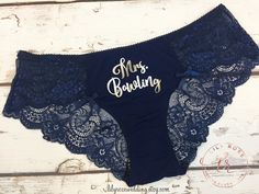 Personalized Lingerie, Bride Panty, Bridal Shower Gift, Panties, Personalized Panties Underwear, Honeymoon, Bachelorette Gift, Bride Gift by LilyRoseWedding on Etsy