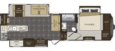 Floorplan image of Keystone Alpine model 3300GR - NEW.