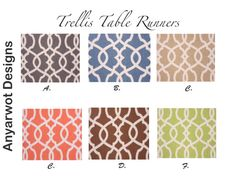 Trellis  Table Runner-Trellis  Table .Chain by AnyarwotDesigns
