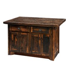 I want kitchen cabinets made from reclaimed barn wood with a dark stain to look like this!