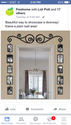Collage Pictures On Wall Large Picture Frames Window Family