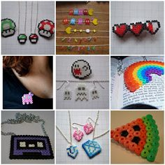 The Indie Handmade Show: Friday's Inspiration: Hama Beads Jewelry