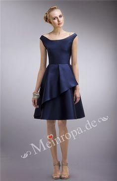Neckholder Knielang Abendkleid Fuer Hochzeitsgast ASLY355