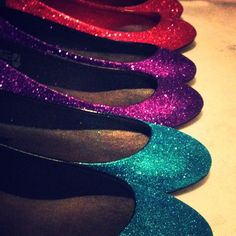 Made To Order Glitter Shoes - Flats - Any color