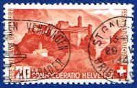 Switzerland Stamp - View of Mesocco Stamp Used