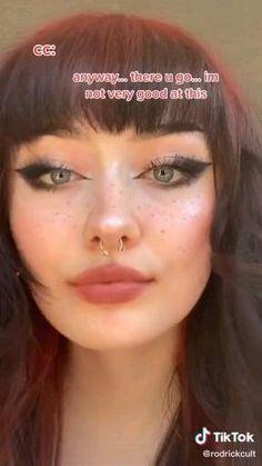 Edgy Makeup, Makeup Eye Looks, Gothic Makeup, Grunge Makeup, Dark Makeup, No Eyeliner Makeup, Cute Makeup, Skin Makeup, Makeup Inspo