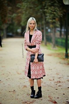 yeah because that topper/dress is amazing. #SooJoo #offduty in Paris. #SooJooPark