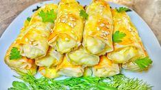 O gustoşenie pentru mic dejun, 15 minute şi sunt gata Fresh Rolls, Cooking Recipes, Cakes, Ethnic Recipes, Youtube, Food, Food Cakes, Eten, Torte
