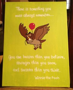 Custom Winnie the Pooh Canvas Quote on Etsy, $20.00