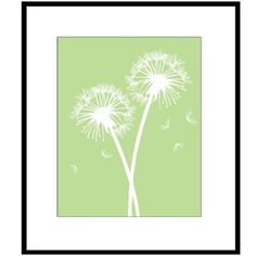 Dandelion Print By Tesslya White Color Show Pigment Ink Dandelions Red