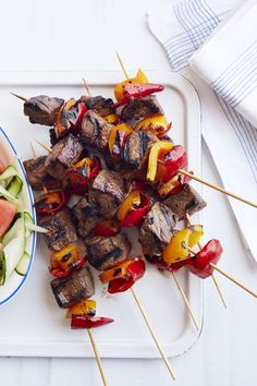 Beer Brat Skewers with Spicy Slaw - WomansDay.com