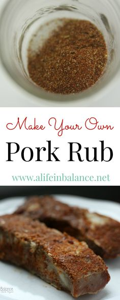 Make Your Own: Pork Rub -- Pork rub has become one of my favorite recipes for Pork. Used on slow-roasted country style ribs, this pork rub creates an meat dish, especially for those on the Whole30 or Paleo programs.
