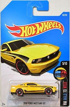 Hot Wheels 2016 HW Mild to Wild 2010 Ford Mustang GT 60/250, Yellow