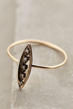 diamond dash ring / anthropologie