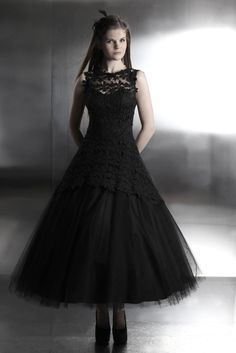 gothik brautkleid aus tüll und spitze