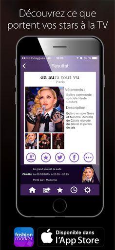 Fashion Marker l appli qui vous dévoile ce que portent vos stars préférées  à la TV  app  mobile  iphone  fashion  marker  style  fashionmarker ... ffb6a4c75e86