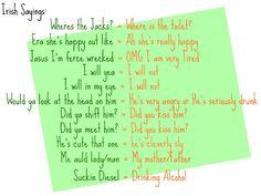 Love.Life.and Makeup: St Patrick's Day: Irish sayings/slang 101