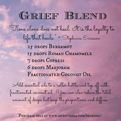The Best Essential Oils and Blends for Grief Loss Especially helpful to aid you in moving through the emotional stress anxiety depression and sorrow of deep loss Lissted. Essential Oil Diffuser Blends, Natural Essential Oils, Young Living Essential Oils, Essential Oils For Depression, Healing Oils, Aromatherapy Oils, Aromatherapy Recipes, Natural Healing, Natural Oils