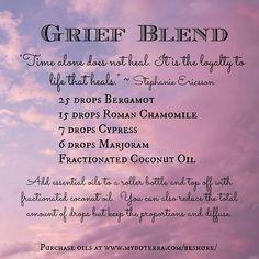 essential oil grief blend