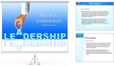 Leadership Business PowerPoint Template a design of leadership concept highlighted with red sculptures. It is also available for business .