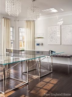 Pin By Robyn Zamkov Salles On Ping Pong Table Room Pinterest - Lucite pool table