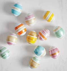 Striped Easter Eggs by Super Make It.