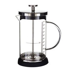 ufengke 12 Oz French Press Coffee  Tea Maker Stainless Steel Coffee Press Pot With Tempered Glass Liner And Filter *** Want to know more, click on the affiliate link Amazon.com.