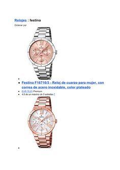 Listado de relojes Festina mas vendidos