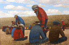 Feast at Little Pine Cemetery by Allen Sapp, Cree artist & painter from Saskatchewan Native American Artists, Canadian Artists, Order Of Canada, American Traditional, Pictures To Draw, Cemetery, Painters, Pine, Art Gallery