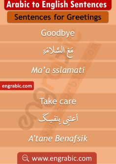 Greeting Sentences in English with Arabic Translation Arabic Verbs, Arabic Sentences, Arabic Phrases, English Sentences, English Vocabulary Words, English Learning Books, English Language Learning, Sms Language, Arabic Language