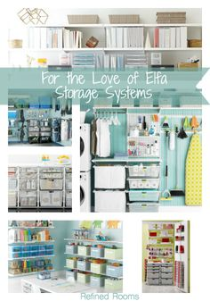 This professional organizer raves about the Container Store's Elfa storage systems  @refinedroomsllc.com