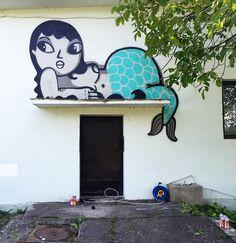 Big wall for Fisart, Street Art Festival in Timisoara, Romania 2016