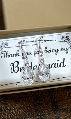 For the bridesmaids. Wedding Jewelry Bridesmaid Gift Bridesmaid by thefabbridaljewelry, $29.99