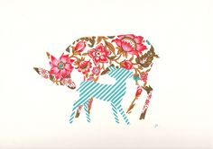 Deer with Fawn by JillClee on etsy