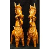 Handmade Panchmuria Terracotta Horse Pair-Assured Free Gift