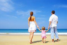 семья, любовь, красиво, берег, песок, пляж