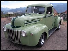 Rare 1945 Ford Pickup 350 CI, Automatic  Originally a US Army truck  #MecumMonterey