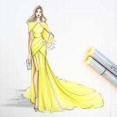 """Fashion sketches 826973550304374673 - """"Don't you hate when you're minding your own business walking down the road and the wind catches your couture? Sketched with Copic Marker and…"""" Source by chrystduce Dress Design Drawing, Dress Design Sketches, Fashion Design Sketchbook, Dress Drawing, Fashion Design Drawings, Fashion Sketches, Fashion Drawing Dresses, Fashion Illustration Dresses, Drawing Fashion"""