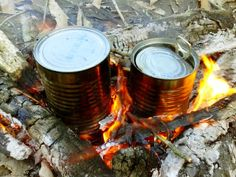 Baking Potatoes In Tin Cans. makes you look like you know how to camp.