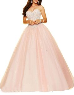 Ikerenwedding Women's Sweetheart Beaded Quinceanera Dress Tulle Lace-up Prom Gown Coral US2 Ikerenwedding http://www.amazon.com/dp/B01CJ53X6Q/ref=cm_sw_r_pi_dp_Q-24wb0YPNY1R