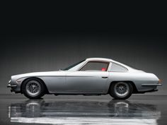 Lamborghini 350GT [I love this car!!! The lines of it are so sleek & sexy. This one is like Gina Lollobrigida. The new Lambos are amazing, but they are more reminiscent of Sylvester Stallone. I'd rather marry Gina. ~sdh/H]