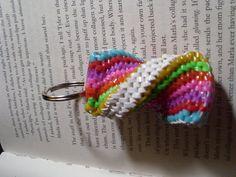 Super twist colorful boondoogle keychain