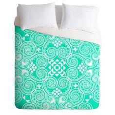 Budi Kwan Decographic Mint Duvet Cover