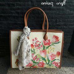 Decoupage, Burlap, Reusable Tote Bags, Knit Bag, Tejidos, Hessian Fabric, Jute, Canvas
