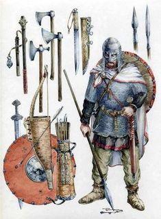 Norse kit for vikings (v. To raid). Viking Warrior, Viking Shield, Viking Art, Valhalla Viking, Viking Symbols, Viking Woman, Armadura Medieval, Escudo Viking, Half Elf